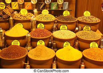 Oriental spices in istanbul market