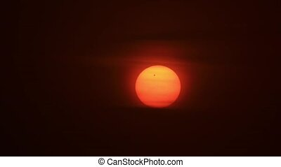 Passage of Venus across the Sun