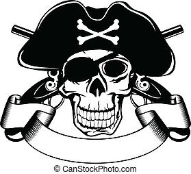 piracy skull - The vector image of piracy skull