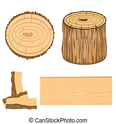 Wooden subjects - Illustration wooden is watered and blocks...