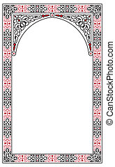 Arabesque border frame - arabesque border frame vector...