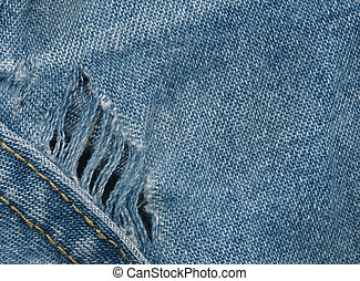 Worn out blue jeans