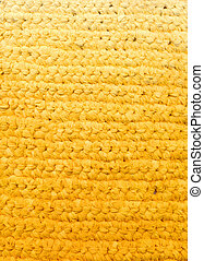 Yellow background - crochet rag rug
