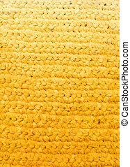 Yellow background - crochet rag rug
