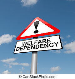 Welfare dependence - Illustration depicting a road traffic...
