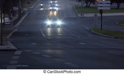 Road Time Lapse - Dusk / night time lapse of a busy...