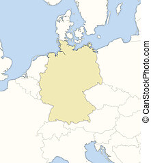 Map of Germany - Political map of Germany with the several...