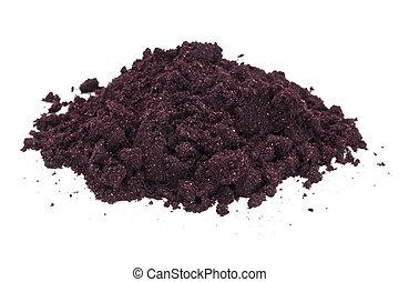 maqui fruit powder - a pile of organic freeze-dried maqui...