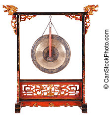 gong - chinese gong with dragon decoration