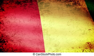 Guinea Flag Waving, grunge look