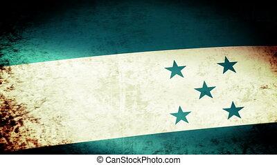 Honduras Flag Waving, grunge look