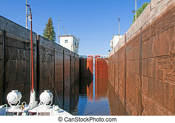 Sluice of the channel Volga-Don Lenin's name