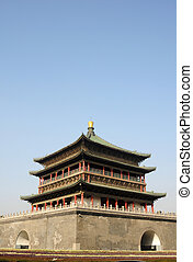 Bell Tower in Xian China - Landmark of the famous historic...