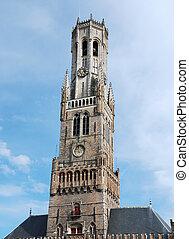 Belfort tower in Bruges (Belgium)