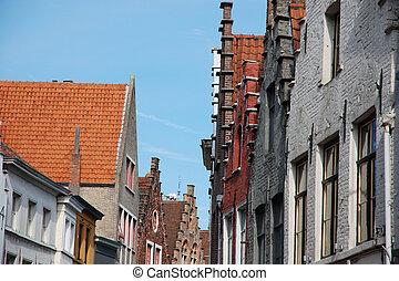 Facades in Bruges (Belgium)