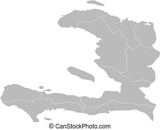 Map of Haiti - Political map of Haiti with the several...