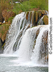 Waterfall on Krka river - National park Krka, waterfall on...