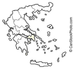 Map of Greece, Attica highlighted - Political map of Greece...