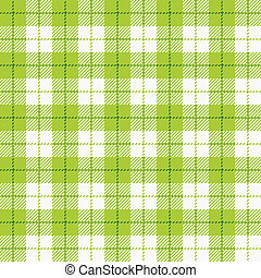 Checkered tablecloth - Seamless vector illustration