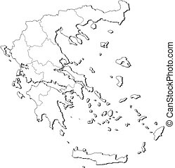 Map of Greece - Political map of Greece with the several...