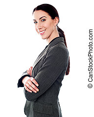 Attractive business woman posing in style