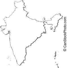 Map of India - Political map of India with the several...