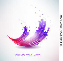 futuristic wave sign