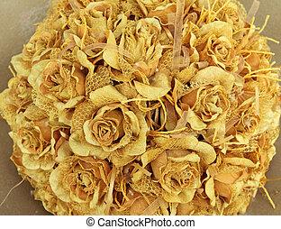mariage, vendange, rose, Bouquet