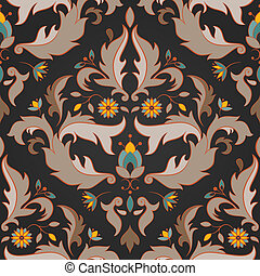 Antique seamless pattern - Floral seamless pattern. EPS 8...