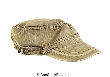 Brown hat, isolated on  white background.