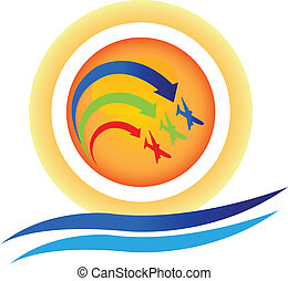 Aircraft show team logo vector
