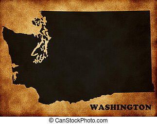 Map of the State of Washington