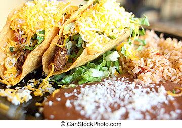 Delicious crunchy tacos