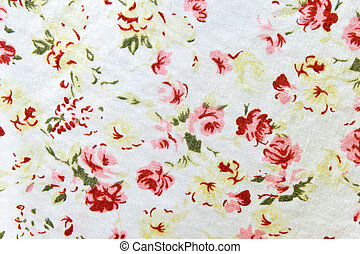 Pattern of flower wallpaper textile