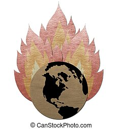 fire flame burning dry earth