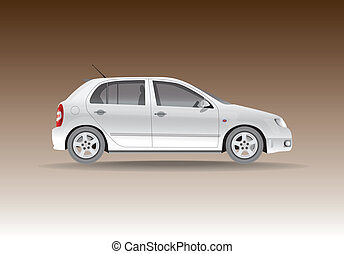 Car from the side - illustration