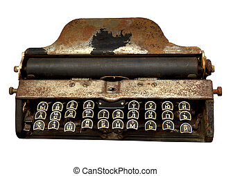 The old machine been writing with a Russian keyboard,...