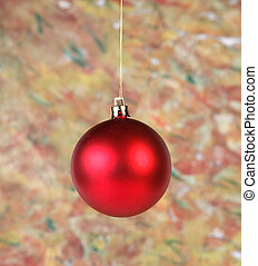 Red ball on abstract background