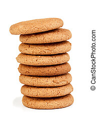 Chips cookies isolated on white