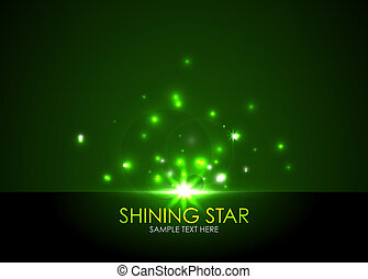 Vector shining star - Abstract vector background with bright...