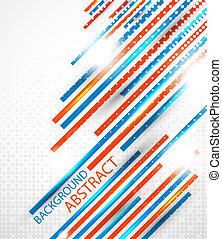 Abstract straight lines background - Orange and blue stripes...