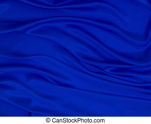 abstract blue royal fabric - close up of blue silk textured...