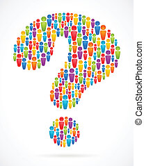 question mark with people icons - question mark with...
