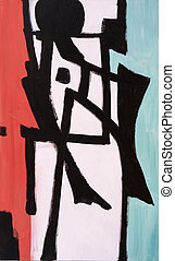 Skid - an abstract painting