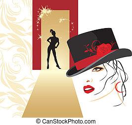 Woman in a elegant hat