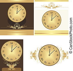 Collection of ancient clocks