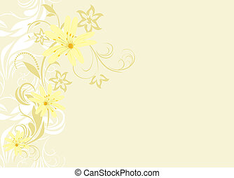 Floral background for card