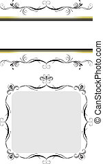 Two decorative floral frames