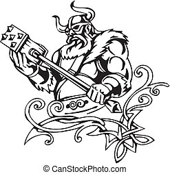 Nordic viking - vector illustration Vinyl-ready - Nordic...