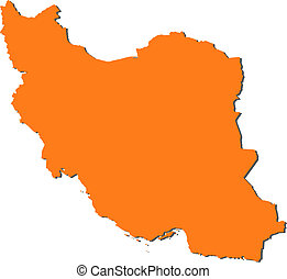 Map of Iran - Political map of Iran with the several...